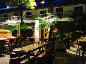 Abendstimmung im Inn-Café